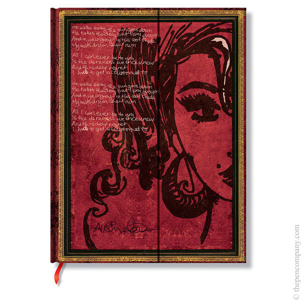 Ultra Paperblanks Embellished Manuscripts Journal Journal Amy Winehouse, Tears Dry Lined
