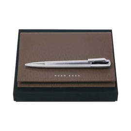 Hugo Boss Pure Ballpoint Pen and Notebook Cover Set - 1