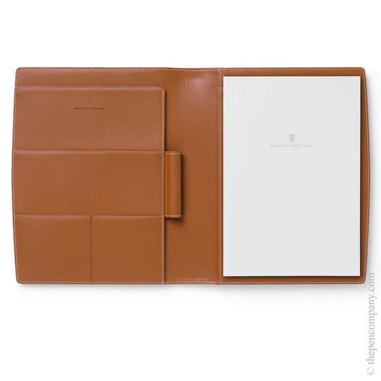 Cognac A5 Graf von Faber-Castell Epsom Writing Case - 1