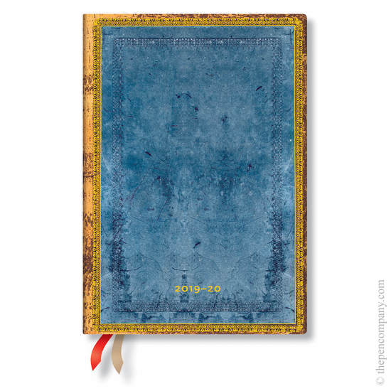Midi Paperblanks Old Leather Classics Flexi 2019-2020 18 Month Diary Riviera Horizontal Week-to-View