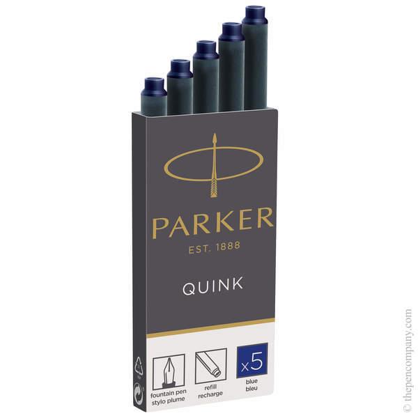 Blue Parker Long Ink Cartridges