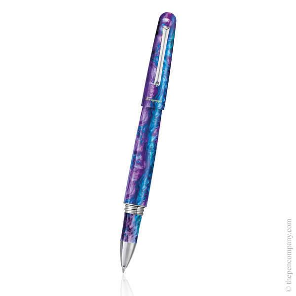 Blue Cross Gentian Montegrappa Elmo 01 Fantasy Blooms Rollerball Pen