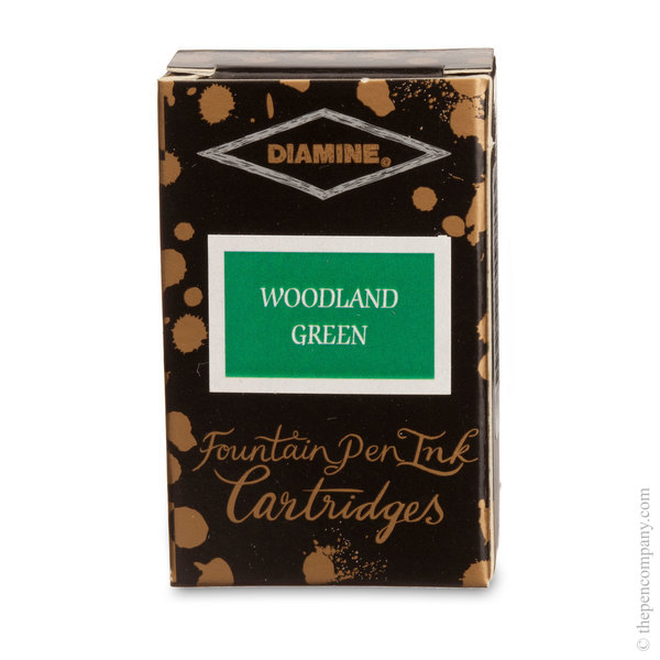 Woodland Green Diamine Fountain Pen Ink Cartridges Ink Cartridges