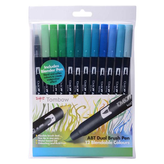 Tombow ABT 12 brush pen set - ocean - 1