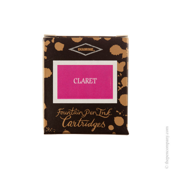 Claret Diamine Fountain Pen Ink Cartridges Pack of 6