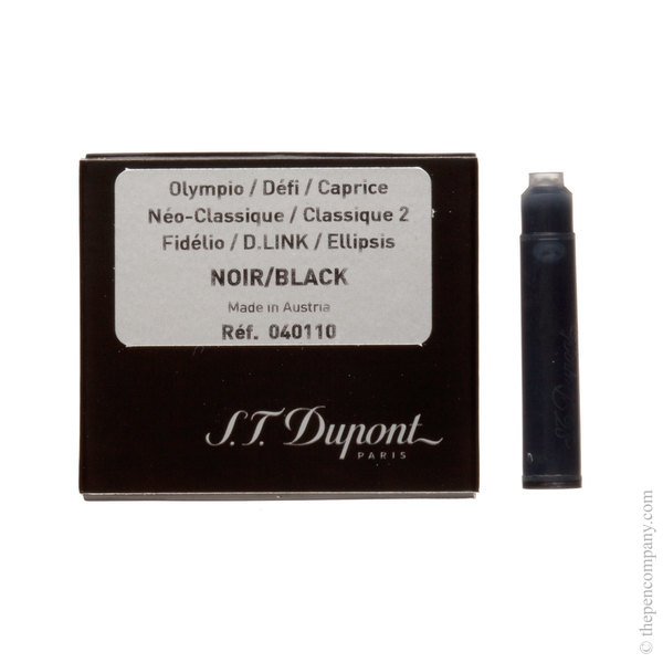 Black S.T. Dupont Fountain Pen Cartridges Ink Cartridges