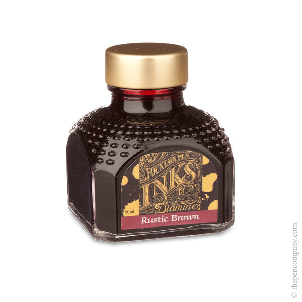 Rustic Brown Diamine Bottled Fountain Pen Ink 80ml