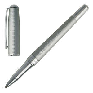 Matt Chrome Hugo Boss Essential Matte Rollerball Pen - 2