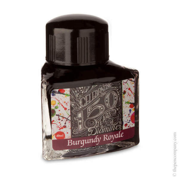 Burgandy Royale Diamine Bottled 150th Anniversary Ink