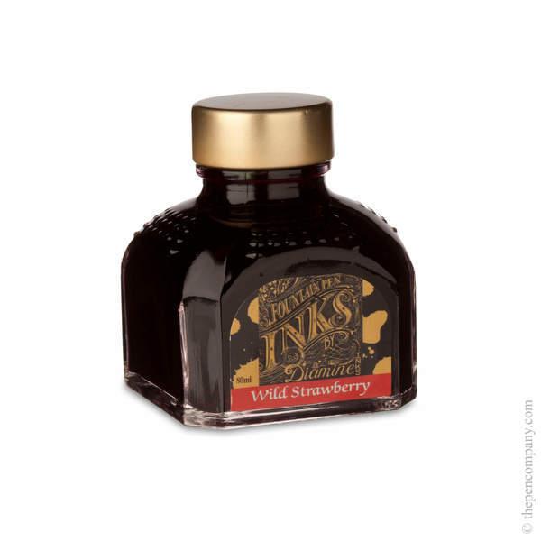 Wild Strawberry Diamine Bottled Fountain Pen Ink 80ml