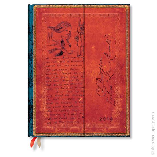 Ultra Paperblanks Embellished Manuscripts 2019 Diary Lewis Carroll, Alice in Wonderland Vertical Wee