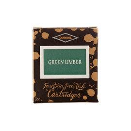 Diamine Green Umber Fountain Pen Cartridges 6 Pack - 1