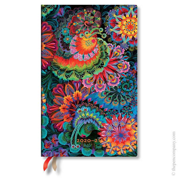 Maxi Paperblanks Olenas Garden Flexi 2020-2021 18 Month Diary Academic Diary