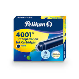 Blue-Black Pelikan 4001 Fountain Pen Cartridges - 1