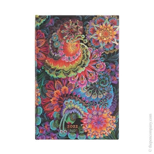 Mini Paperblanks Olena's Garden 2022 Diary 2022 Diary Moonlight Verso Week-to-View
