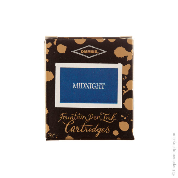 Midnight Diamine Fountain Pen Ink Cartridges Pack of 6