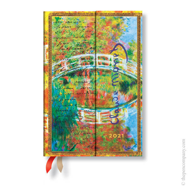 Mini Paperblanks Embellished Manuscripts 2021 Diary 2021 Diary Monet (Bridge), Letter to Morisot Verso Week-to-View