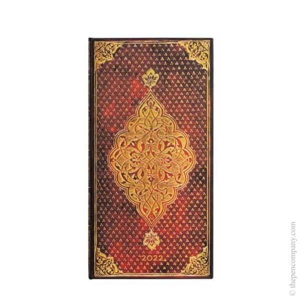 Slim Paperblanks Golden Trefoil 2022 Diary 2022 Diary