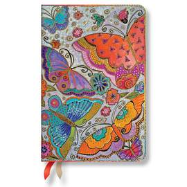Paperblanks Mini Week-to-view Laurel Burch Flutterbyes 2017 Diary - 1