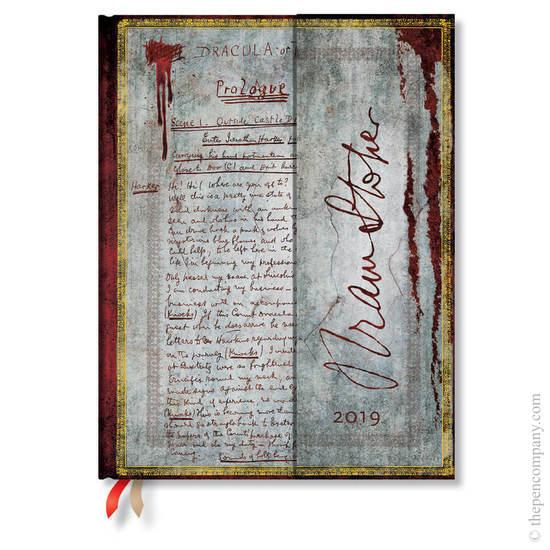 Ultra Paperblanks Embellished Manuscripts 2019 Diary Bram Stoker, Dracula Horizontal Week-to-View -