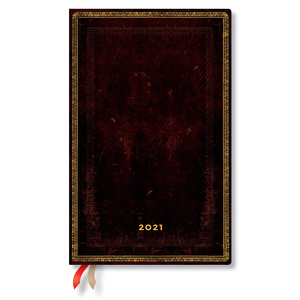Paperblanks Black Moroccan Old Leather 2021 Diary Maxi