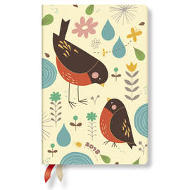 Mini Tracy Walker Animal Friends 2018 Diary Mother Robin Day-to-View - 1