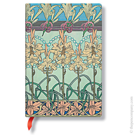 Lined Midi Paperblanks Tiger Lily Mucha Journal - 1