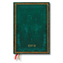 Midi Paperblanks Old Leather Classics 2019 Diary Viridian Day-to-View - 1