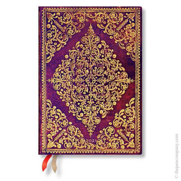 Midi Paperblanks Diamond Rosette 2021 Diary 2021 Diary