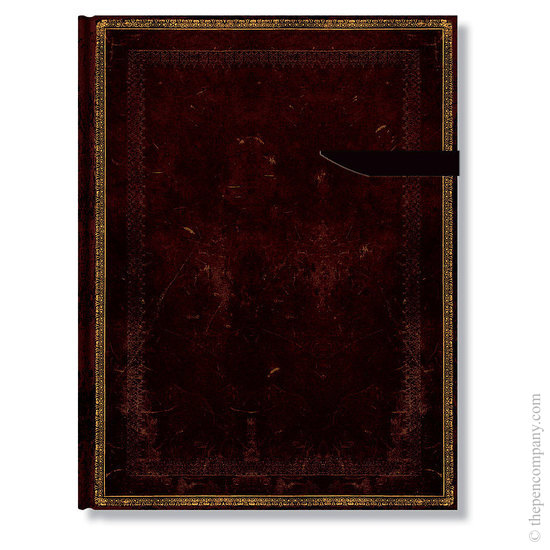 Ultra Paperblanks Old Leather Black Moroccan Address Book - 1