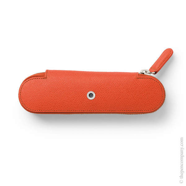 Burned Orange Graf von Faber-Castell Epsom Zipper Pen Case for Two