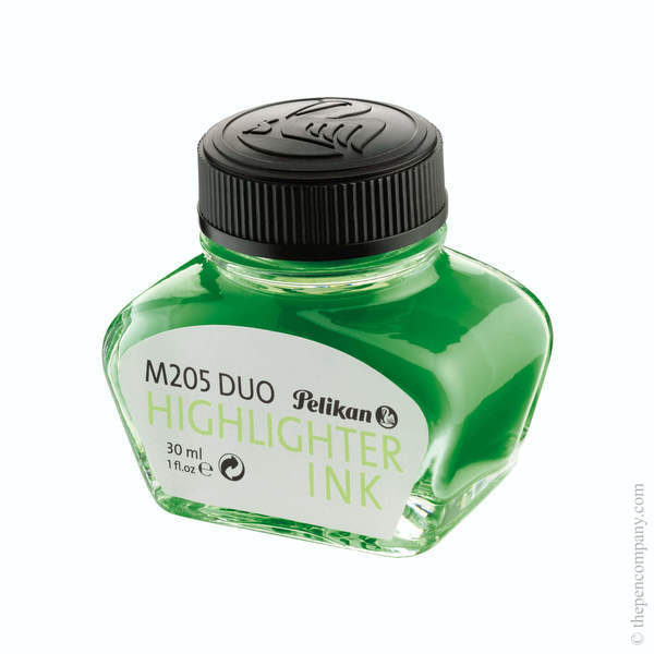 Green Pelikan Bottled Classic M205 Duo Highlighter Ink