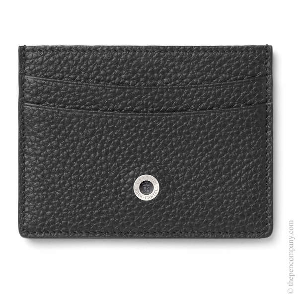 Black Graf von Faber-Castell Cashmere Credit Card Holder Double-Sided