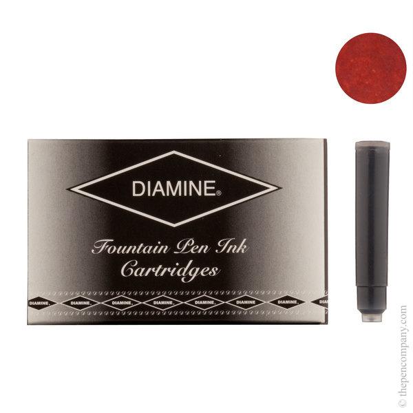Monaco Red Diamine Fountain Pen Ink Cartridges