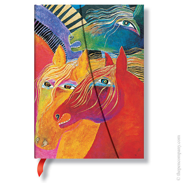 Midi Paperblanks Laurel Burch - Mystical Horses Journal Journal Wild Horses of Fire Lined