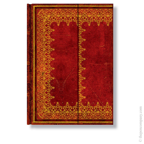 Midi Paperblanks Old Leather Journal Foiled Unlined