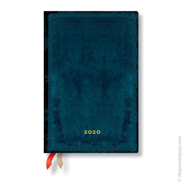 Mini Paperblanks Old Leather Classics 2020 Diary 2020 Diary Calypso Bold Day-to-View