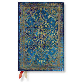 Mini Paperblanks Equinoxe 2018 Diary Azure Horizontal Week-to-View - 1
