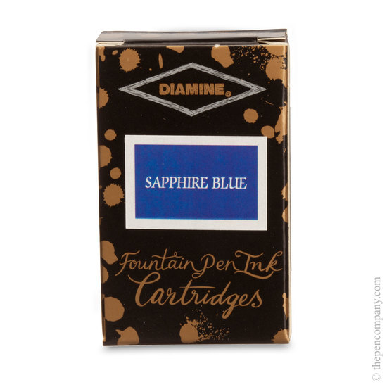 Sapphire Blue Diamine Fountain Pen Ink Cartridges - 3