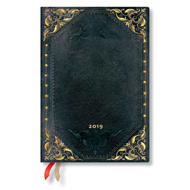 Midi Paperblanks The New Romantics 2019 Diary Midnight Rebel Verso Week-to-View - 1