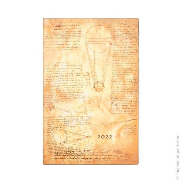 Maxi Paperblanks Leonardo's Sketches Flexi 2022 Diary 2022 Diary