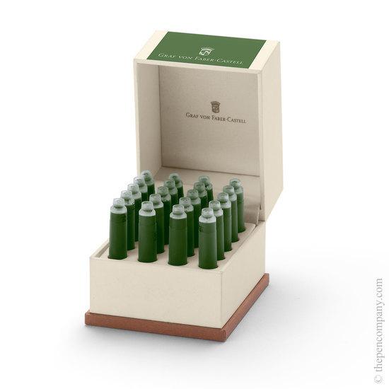Graf von Fabel-Castell 20 Fountain Pen Ink Cartridges Moss Green - 1