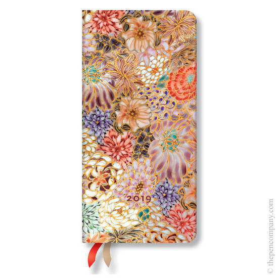Slim Paperblanks Michiko 2019 Diary Kikka Horizontal Week-to-View - 1