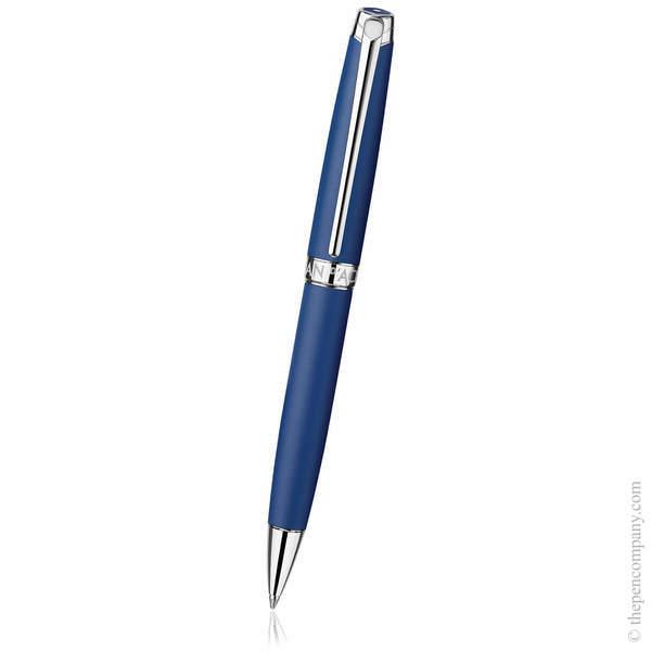 Blue Matt Caran d'Ache Léman Ballpoint Pen