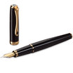 Black Lacquer Gold Diplomat Excellence A2 Fountain Pen - 2