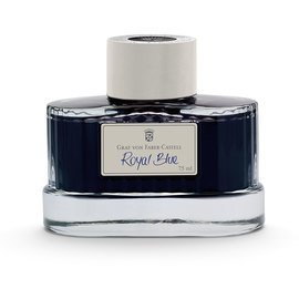 Graf von Fabel-Castell Perfect Pencil Guilloche Light Grey Fountain Pen Ink Royal Blue - 1