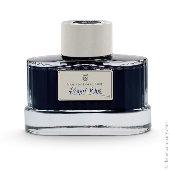 Graf von Fabel-Castell Perfect Pencil Guilloche Light Grey Fountain Pen Ink Royal Blue - 1