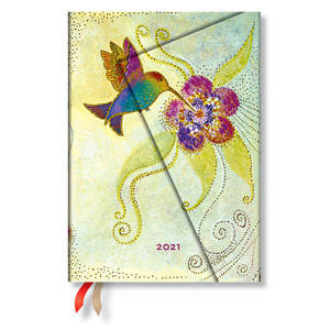 Paperblanks Hummingbird Whimsical Creations 2021 Diary Midi