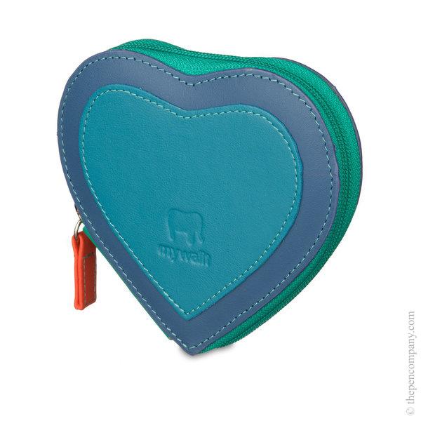 Aqua Mywalit Heart Coin Purse Coin Purse