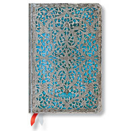 Mini Silver Filigree 2017-2018 18 Month Diary Maya Blue Horizontal Week-to-View - 1